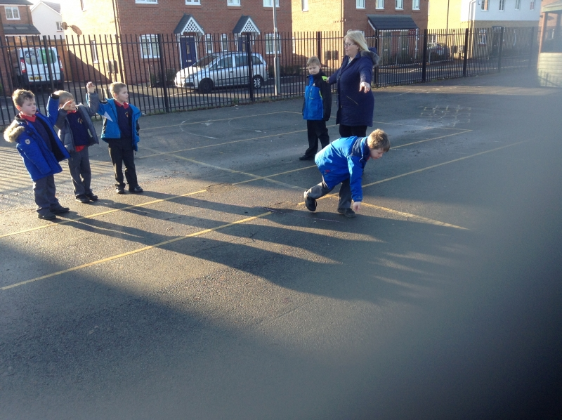 Shadow pictures based on Antony Gormley All Yr 2