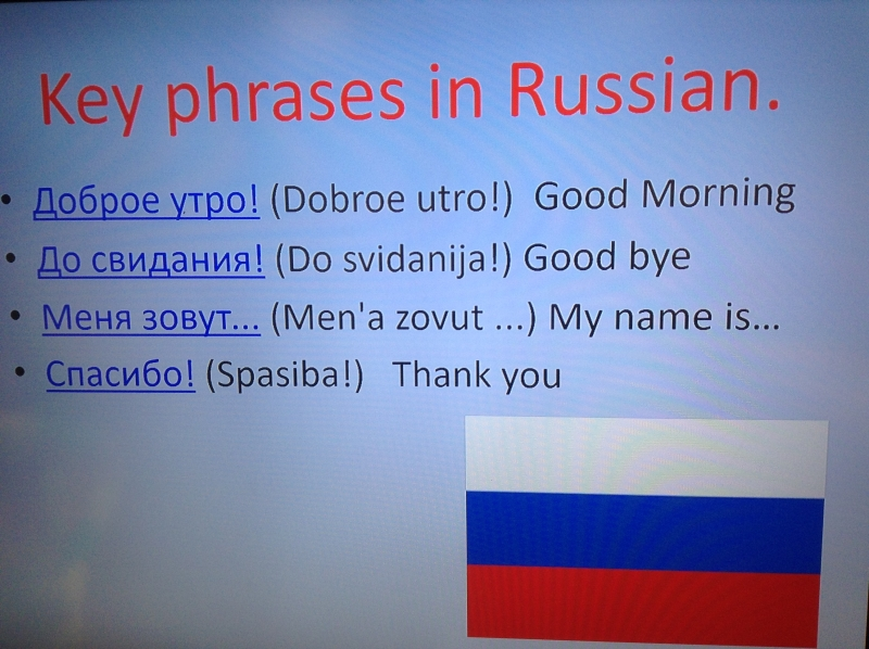 I.D.L Russian vocabulary we have learnt