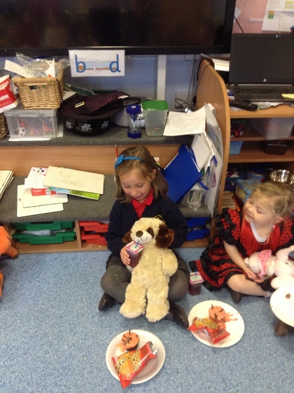 Even our class teddy Paws enjoyed the party.