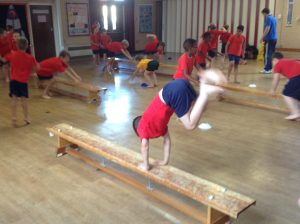 Year 4 doing gymnastics