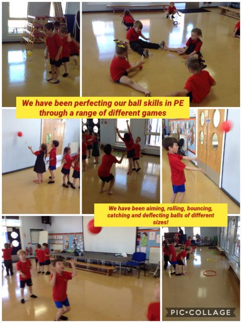 1S - We have been learning different ball skills in our PE lessons this term
