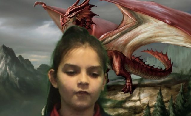 5.2 have been learning about non-chronological reports. We wrote factual descriptions of dragons and presented them using a green screen app